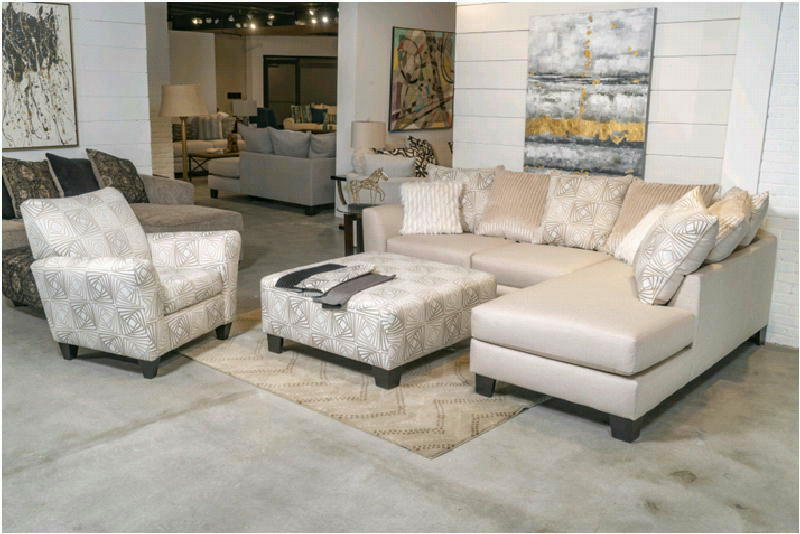 2 Pcs Sectional and Ottoman