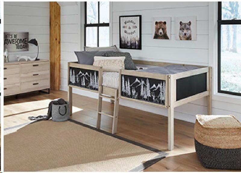 Twin Loft Bed w2 Storage