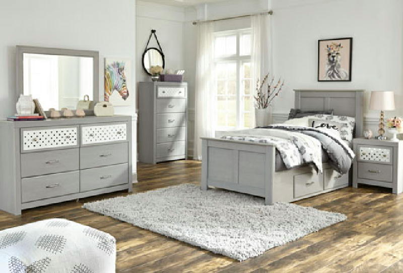 5pc  Twin Panel Bedroom Set