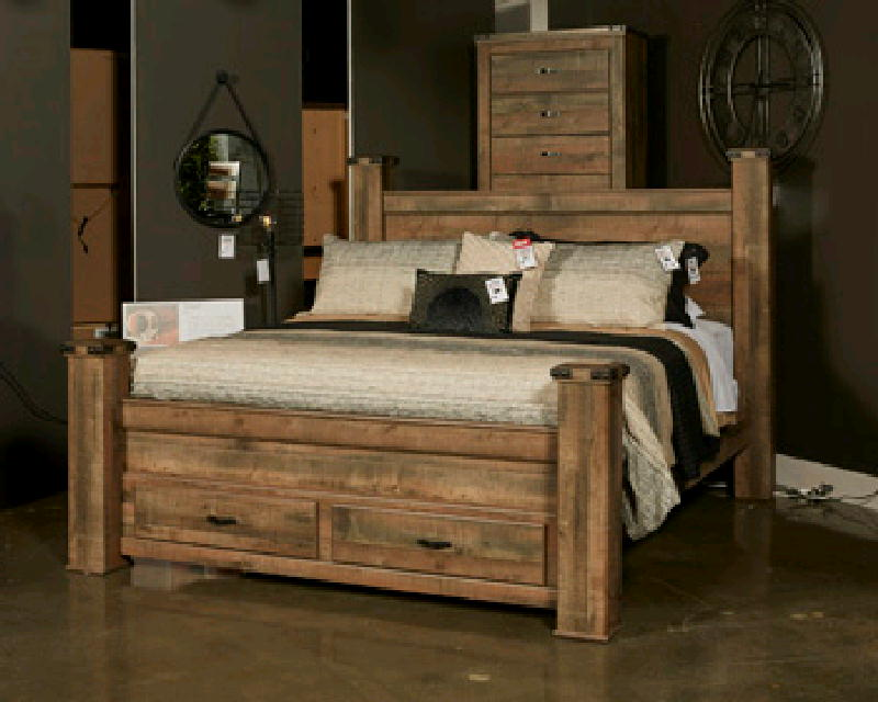 Queen Bed  Dresser & Mirror NS