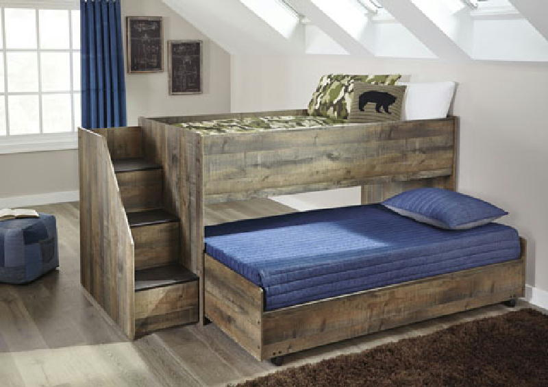 Twin Loft Bed wCaster Bed