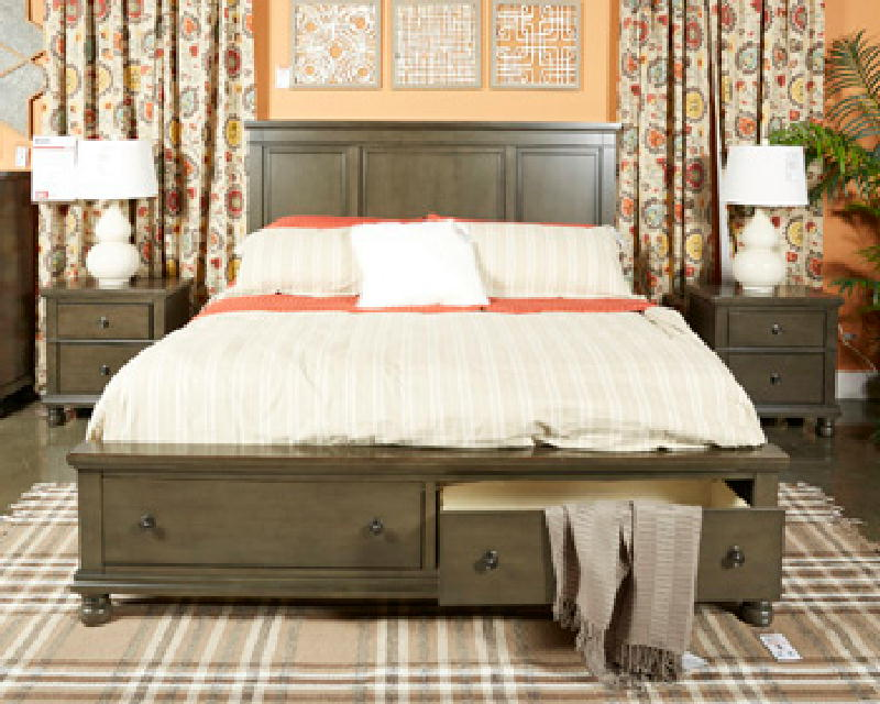 King Bed Mirror Dresser & NS