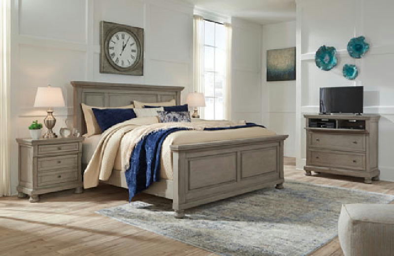 Queen Sleigh Bed wStorage FTB