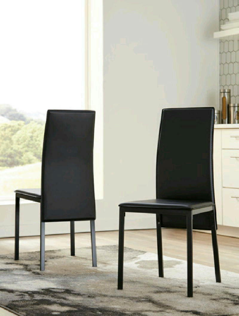 DRM Side Chair pairBLK