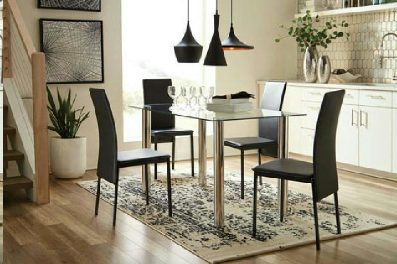 Dining Table w 4 BLK Chairs
