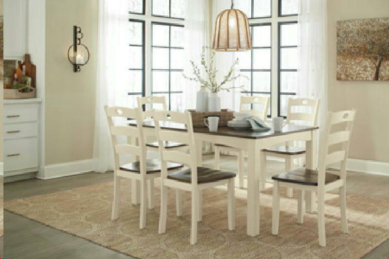 7PC Dining Set w6 Chairs1Box
