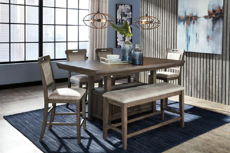 5 Pcs Counter HeighDining Set