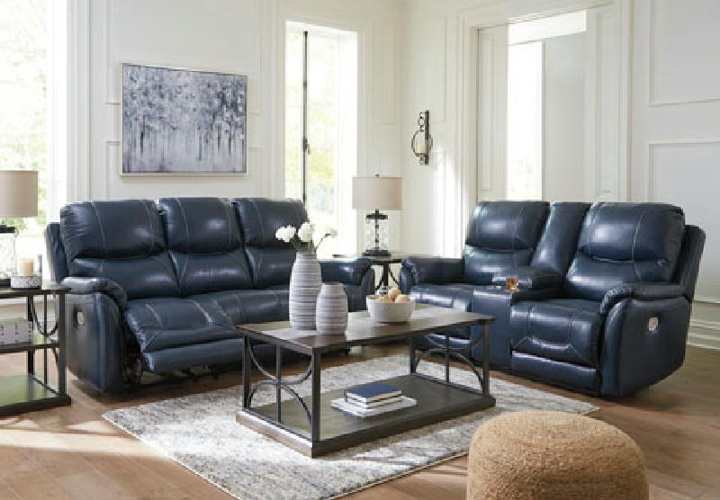 Leather Pwr Sofa and Loveseat