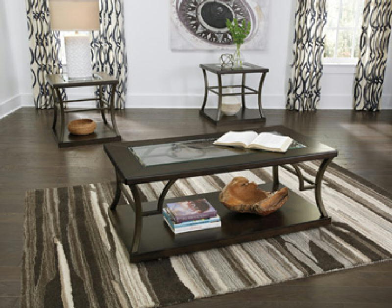 Cocktail Table &2End Tables