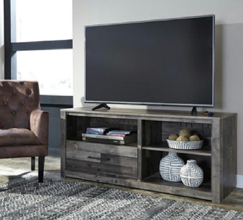 Lg TV stand w Fireplace