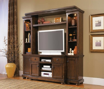 4PC Wall Unit Med TV Stand