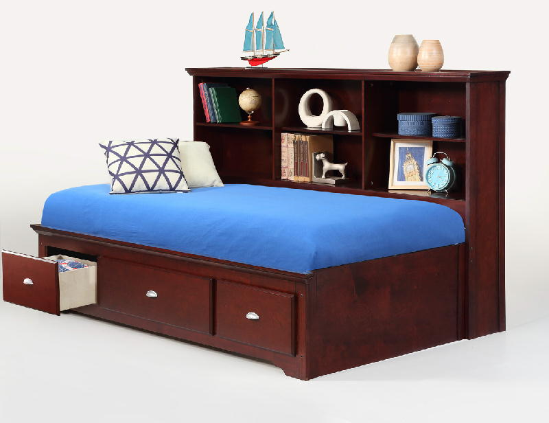 Full  Side Bed WStorage