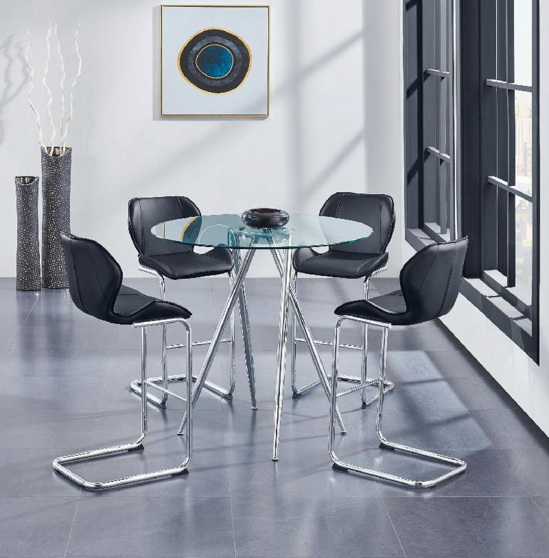 CNTR Table w4Black Chairs