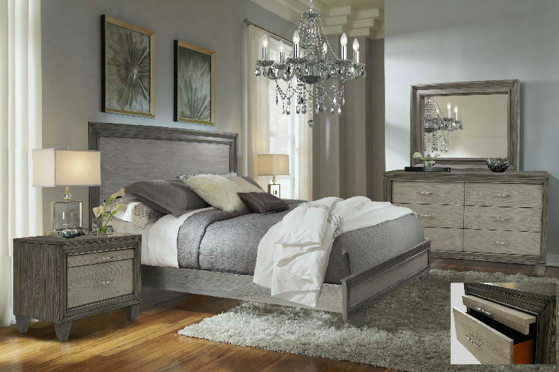 King Panel Bed Dresser Mirror