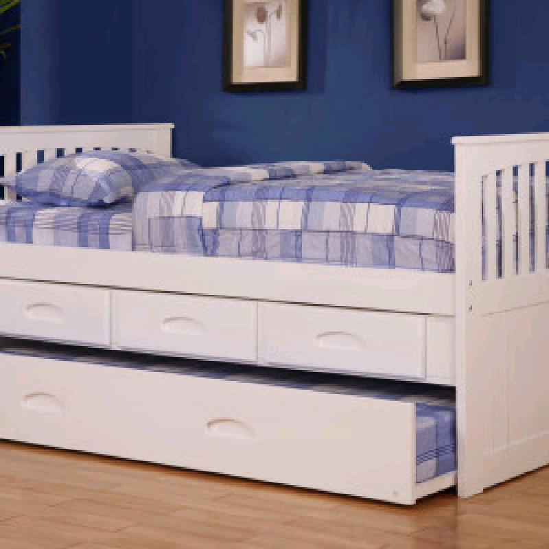 Twin Captain Bed w Trundle