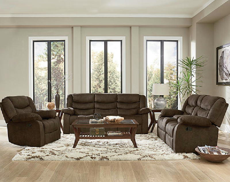 Ridgecrest Dark Brown Reclining Loveseat Wconsole Furniture Mattresses Electronics Va Beach