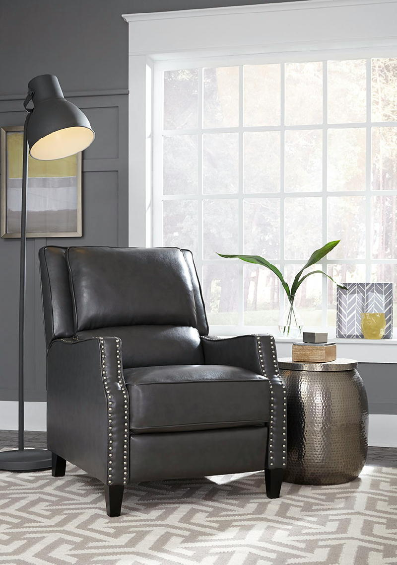 Recliner Push Back Charcoal