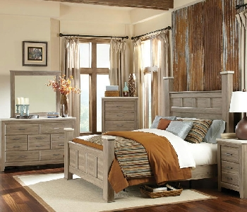 King Poster Bed Dresser Mirror
