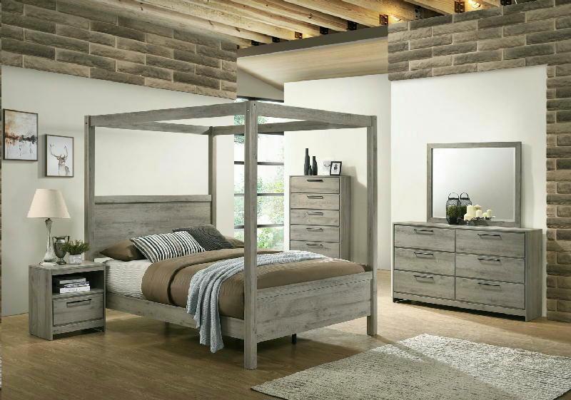 5 Pcs Queen Canopy Bedroom